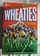 Wheaties Rams Super Bowl Champions XXXIV 18 Oz Box Full,UNOPENED
