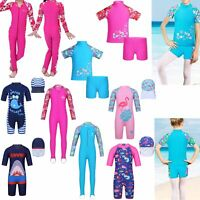 Girls Boy Swimwear Rash Guard Sun Protection Beach Surfing Suit Swimsuit Costume