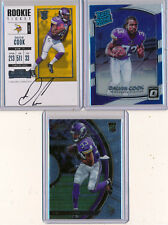DALVIN COOK - 2017 3pc Lot - Contenders SP Ticket AUTO, Optic & Select Rookies