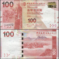 Hong Kong 100 Dollars. NEUF 01.01.2014 Billet de banque Cat# P.343d