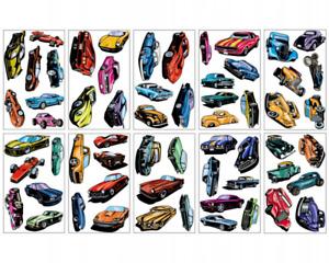 Mega Auto Wandtattoo Set 60 Stück Hot Rod + Muscle Car + Supercars Wandsticker