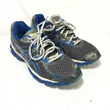 Asics Gel Cumulus 14 Womens 10.5 D Gray Blue Lace Up Athletic Running Shoes