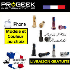 Kit 2 vis Pentalobe torx pour iPhone 5 / 5S / SE / 5C / 6/6 Plus / 6S/6S Plus /7