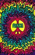 PEACE SIGN - BLACKLIGHT POSTER - 24X36 FLOCKED 1662
