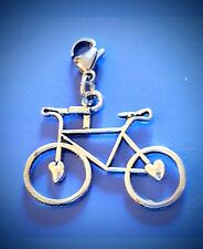 BICYCLE CHARM DANGLE CLIP ON CHARM for BRACELET BACKPACK BICYCLE PENDANT SILVER