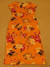 New With Tags Discreet Womens X Large Multi-Color Floral Polyester Blend Dress