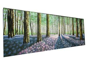 Art Painting original abstract Trees landscape forest canvas wall  décor artwork