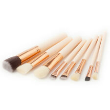 LX_ EG_ 8Pcs Wood Handle Powder Concealer Eyebrow Make-up Eye Shadow Brushes S