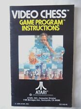59706 Instruction Booklet - Video Chess - Atari 2600 / 7800 (1979)