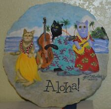 For The Crazy Cat Lady In Your Life~Aloha Cat Stepping Stone~Artist M.L.Faustine