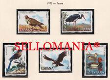 1973 FAUNA ANIMALS EDIFIL 2134 / 38 ** MNH EAGLE DUCK STORK AGUILA PATO  TC21066