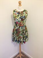 Joe Browns Dress 12 Floral Mini Skater Dress Abstract Bright Flower