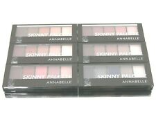 WHOLESALE LOT 6 ANNABELLE SKINNY EYESHADOW PALETTE MAKEUP COSMETICS 4.2g #ASSTED
