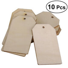 10Pcs Rectangle Unfinished Wood Cutout Chips for Game Arts Crafts Ornaments