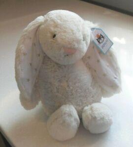 NEW LABEL Jellycat Medium Bashful Twinkle Bunny Rabbit Soft Toy Comforter Stars