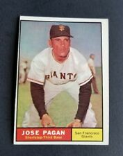 ORIGINAL1961 TOPPS SAN FRANCISCO GIANTS BASEBALL CARD #279 JOSE PAGAN EX.MT.