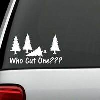 FUNNY FART PINE TREE AXE HUMOR VINYL DECAL STICKER CAR TRUCK SUV or LAPTOP WALL