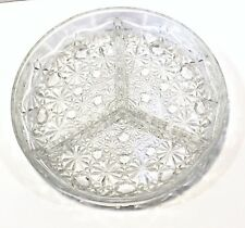 Vintage Veropa Clear Cut Glass 3 Section Hors D'oeuvres Relish Dish France Box