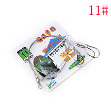 3bags Stainless Steel Fish Rig Wire Leader 5String Hook anti-winding jig hook LJ