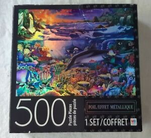Tropical Island Paradise 500 Puzzle Pieces Metallic Effect New Free Shipping