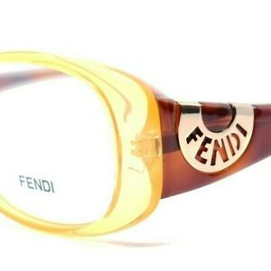 FENDI 846 832 NEW YELLOW TORTOISE RX EYEGLASSES 53-14-135