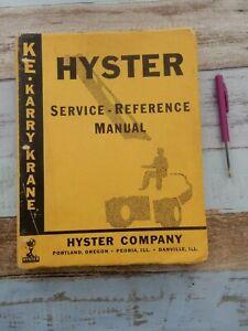 Hyster KE Karry Krane service - reference manual book
