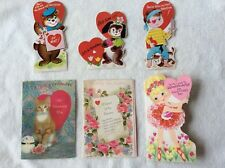Lot of 6 Vtg Valentines Circa 1950's - 1960's