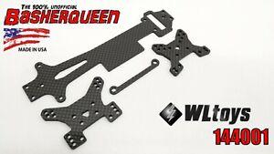 Basherqueen Carbon Fiber Set WLToys 144001 4 pieces MADE IN USA