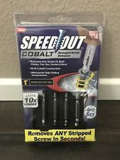 Ontel Speed Out Cobalt Damaged Screw Extractor 4 Piece Set #1000369 BRAND NEW!