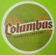 COLUMBUS BREWING COMPANY, BREWED IN beer COASTER, MAT Columbus, OHIO, 2006 issue