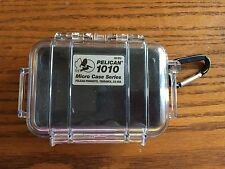 Pelican 1010 Micro Case Series - Clear with Black Liner EUC