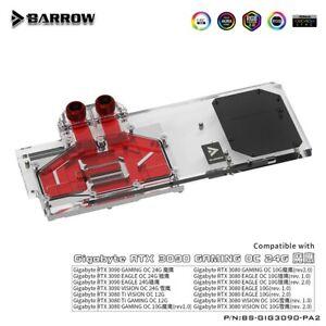 Barrow Full GPU Water Block for Gigabyte RTX 3080 Ti 3090 Gaming Eagle Vision