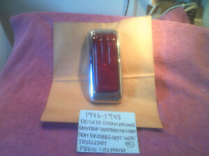 1946-1948 DESOTO CUSTOM DELUXE FACTORY DRIVERS TAILLIGHT HOUSING FREE SHIPPING