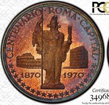 """PCGS PR66 D-CAM """"THE MOST GORGEOUS 1970 150 PTA SEEN"""" TONED ROME COLOSSEUM .999"""