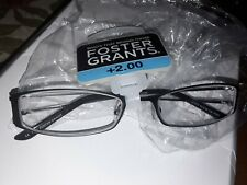 FOSTER GRANT READING GLASSES +2.00 NEW IN PACK
