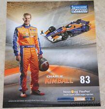 "2015 Charlie Kimball Novo Nordisk ""2nd issued"" Chevy Dallara Indy Car postcard"