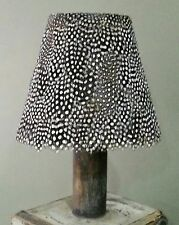 """GUINEA FOWL  feather coolie lampshade 7.5"""" (19cm) HANDMADE IN UK."""