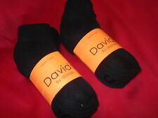 Davido Women socks ankle/quarter made in Italy 100%cotton 8 pairs black siz 9-11