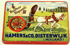Huifkar Covered Wagon Horse Flat 10 Tobacco Tin 1930, 1915 Prize San Francisco