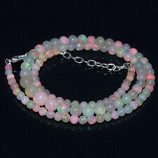 "42Crt 100%Natural Ethiopian Welo Fire Opal Balls Gemstone Necklace ""17"" #i38"