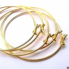 Lot of 5 Charm Bracelets /Bangles gold plated jewelry craft H827 Ships from USA
