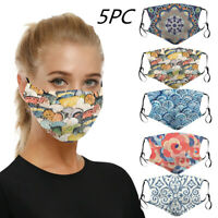 5pc Mouth Masks Protection Anti Face Mask Washable Earloop Face Mouth Mask AU