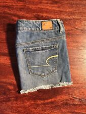 AMERICAN EAGLE Women's Short Shorts/Skirt w/Button zipper Size 0 with Blue wash