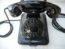 ALTES BAKELIT TELEFON + 1948 + W 48 / W 36 +  SIEMENS & HALSKE  + volle Funkt.