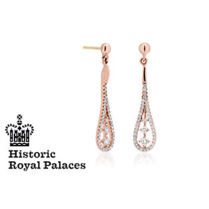 NEW Official Welsh Clogau 18ct Rose Gold Royal Crown Earrings £300 OFF! *RARE*