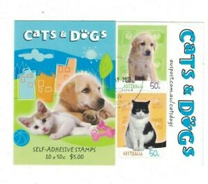 MAD770) Australia 2004 Cats & Dogs Booklet CTO