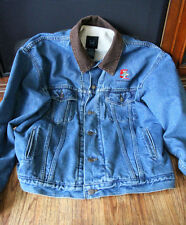 Chuck E Cheese Employee 5 Year Anniversary Jean Jacket Fleece Lined Mens Large