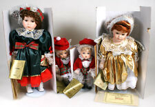 SEYMOUR MANN XMAS CONNOISSEUR DOLLS W/ CERTIFICATES   ORIG. BOXES INCLUDES STAND
