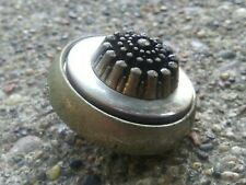 Vintage Metal and Mother of Pearl Button.
