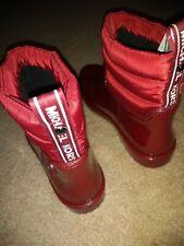 New MICHAEL KORS MK Rain Boots Women's Shoes Maroon Snow Boots Sz 8